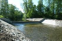 Řeka Stonávka v Třanovicích.