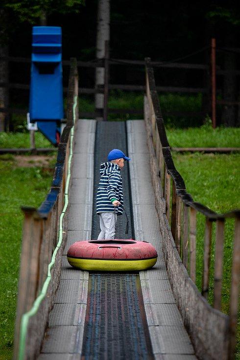 Dětský letní a lanový park, 18. července 2020 v Bílé.