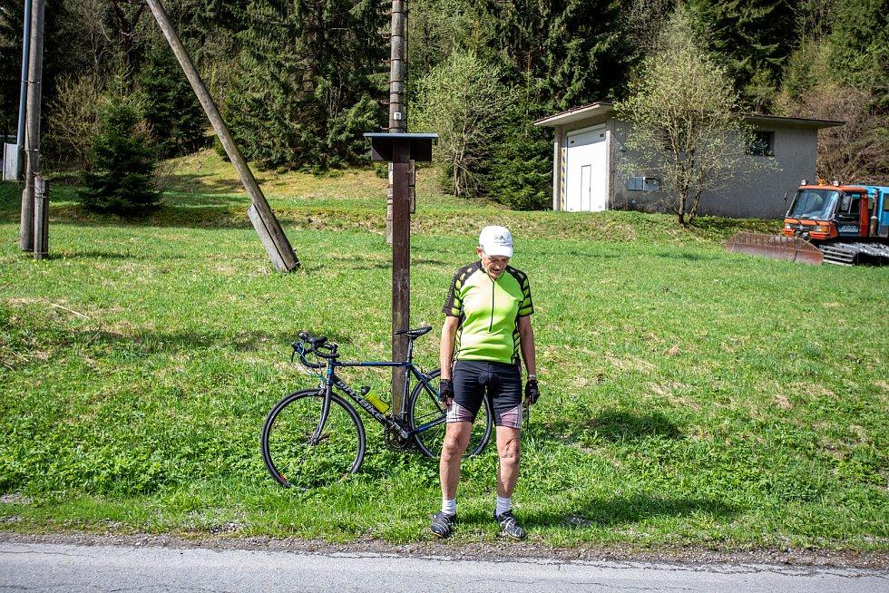 Lubomír Vláčil, symbolicky v zeleném trikotu pro pravé vrchaře, si u záznamů o pokoření Lysé hory mohl napsat číslovku 2000!