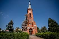 Oprava evangelického kostela ve Frýdku-Místku, 12. srpna 2020.