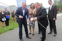 Slavnostní zahájení stavby přeložky silnice I/11 v Oldřichovicích.