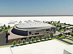 Budoucí podoba haly podle architektonického návrhu.