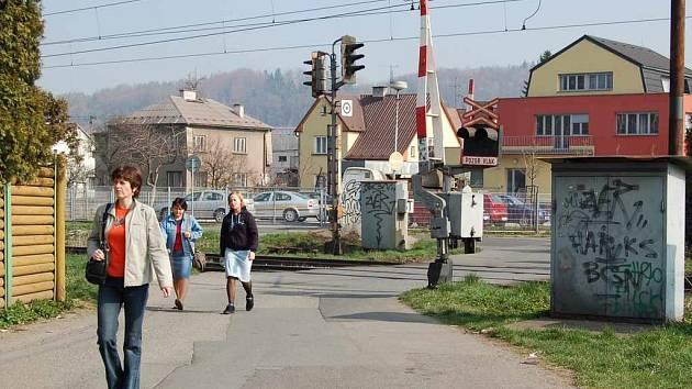 Místo v Lyžbicích kde si někteří občané Třince přejí zastávku.