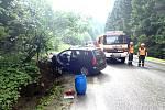 Dopravní nehoda ve Starých Hamrech