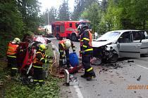 Vážná nehoda na Bílé v Beskydech.