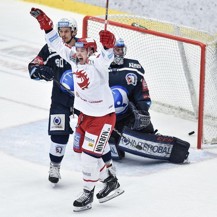 I podruhé mohli v Třinci slavit hokejisté Plzně. Vyrovnané utkání zlomili ve svůj prospěch.