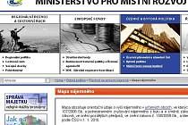 Internetové stránky ministerstva pro místní rozvoj.