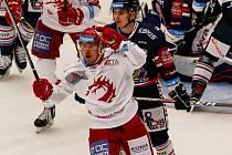 Rostislav Martynek se raduje ze své trefy do sítě Vítkovic.