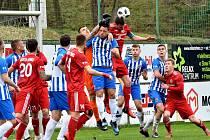 Třinečtí fotbalisté si před derby s Vítkovicemi připsali tři body.