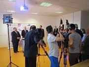 Návštěva premiéra Bohuslava Sobotky ve Frýdku-Místku.