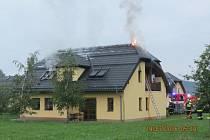 Požár v domově seniorů.