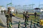 Vojáci při cvičení v Nošovicích.