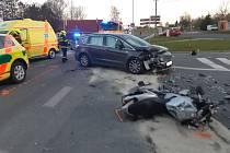 Motocyklista se vážně zranil v Sedlišti na Frýdecko-Místecku.
