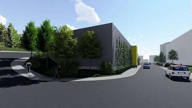 Takto bude vypadat nový parkovací dům na třineckém sídlišti Sosna.