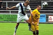 Fotbalisté Frýdku-Místku nestačili v domácím prostředí na favorizovaný celek Znojma.