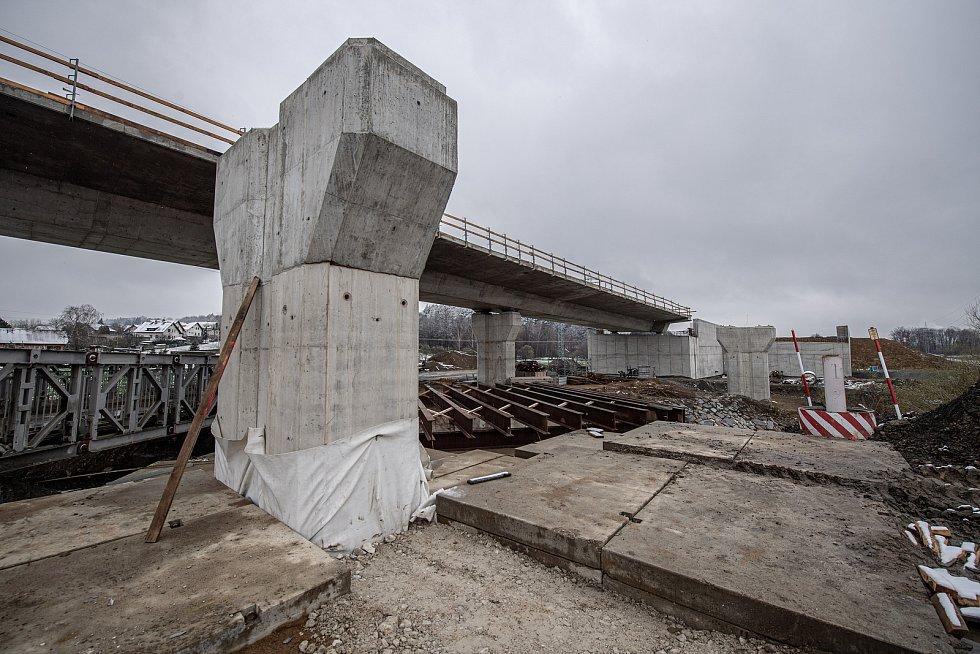 Ve Frýdku-Místku pokračovala 13. dubna 2021 výstavba obchvatu (I. etapa).