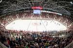 Přátelský hokejový zápas mezi HC Oceláři Třinec a Bílí Tygři Liberec v nové Werk aréně.