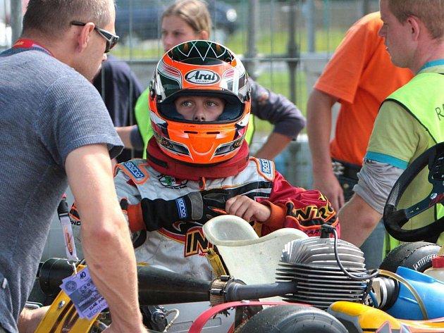 Frýdecko-místecký jezdec David Klar před startem závodu.