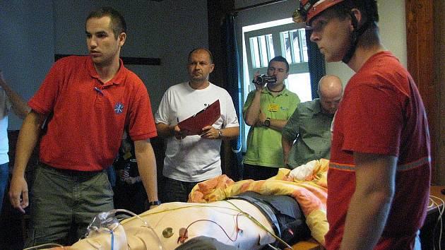 Mezinárodní soutěž v záchraně raněných v areálu rekreačního střediska Sepetná v Ostravici.