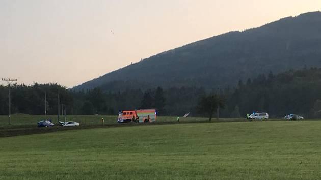 Ranní nehoda v Kunčicích pod Ondřejníkem.
