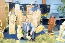 Výstava betlémů má ve Frýdku-Místku díky Josefu Kleinwächterovi (na snímku) svou tradici.