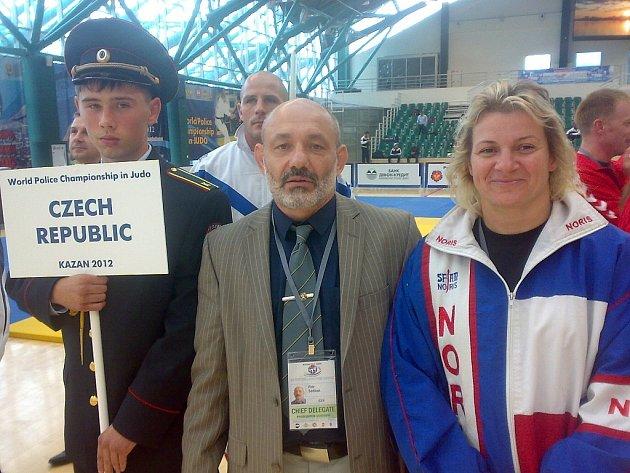 Snímek z šampionátu policistů v Kazani
