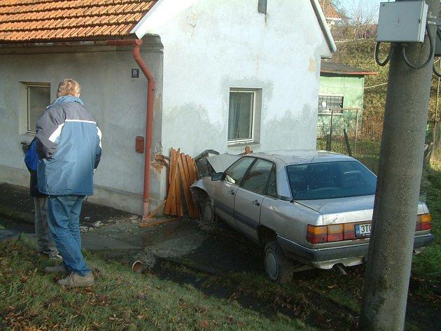 Dopravní nehoda v Palkovicích.