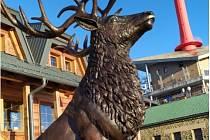 Nová socha na Lysé hoře.