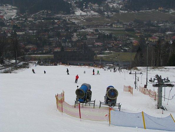 Ski areál vMostech uJablunkova.