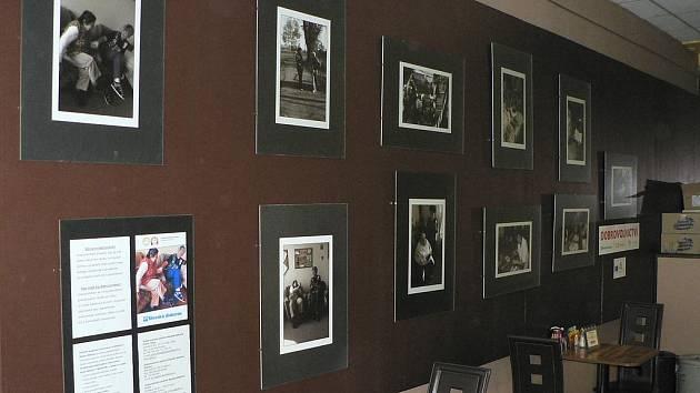 Expozice v kavárně Empatie.