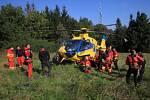 Cvičení Horské služby Beskydy s leteckými záchranáři MSK.