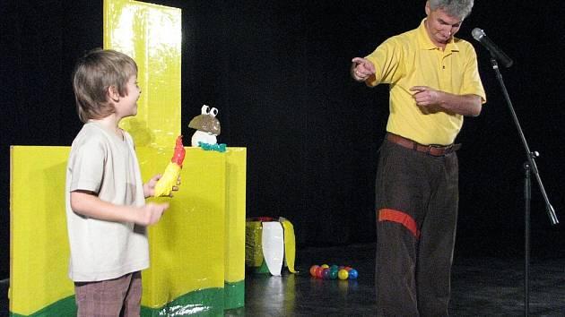 Vystoupení Michala děti velmi bavilo.