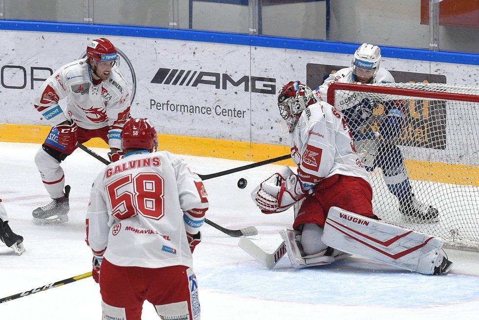 Brno 13.12.2020 - domácí HC Kometa Brno v modrém proti HC Oceláři Třinec (jakub Štěpánek)