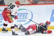 Semifinále play off hokejové extraligy - 3. zápas: HC Oceláři Třinec vs. HC Mountfield Hradec Králové, 2. dubna 2018 v Třinci.