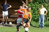 Snímek z utkání Nýdek-Mosty, v němž domácí zvítězili 5:3.
