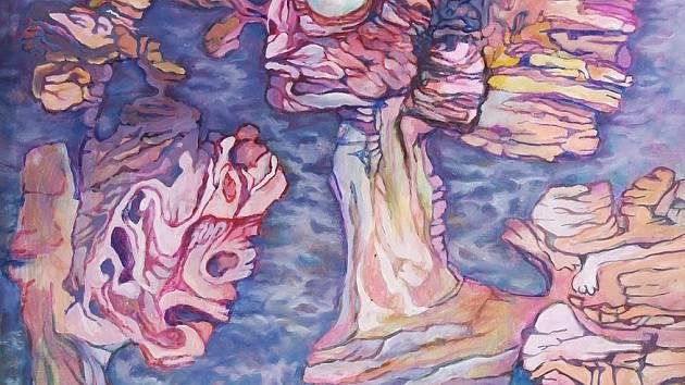 Výstava Jana Bocka s názvem Mávnutí motýlích křídel v Galerii města Třince. Foto: archiv galerie