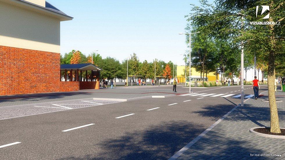 Na místě stávajícího parčíku mají vyrůst nové autobusové zastávky.