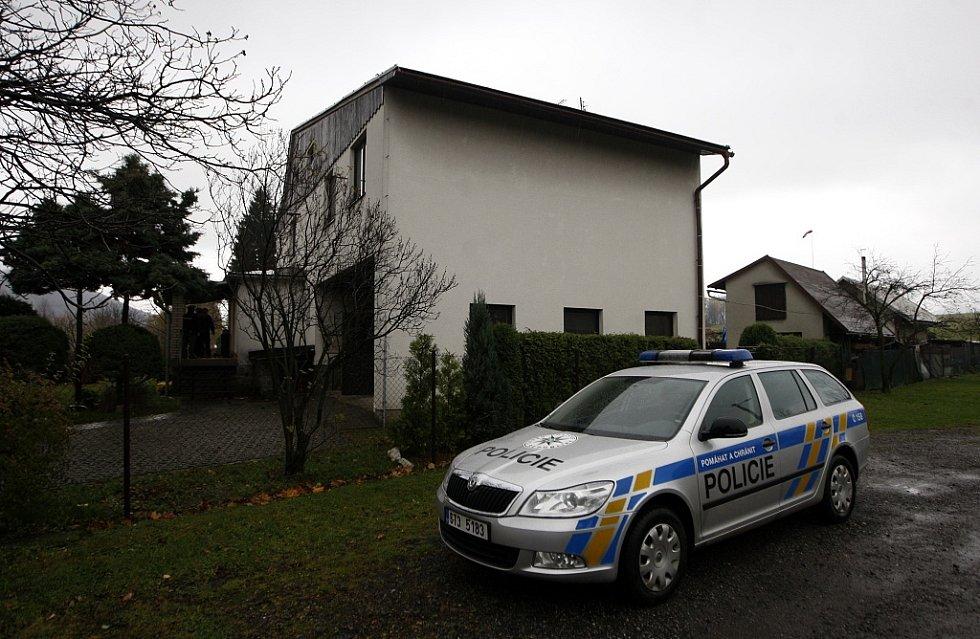 Dům v Raškovicích, kde byla dvojnásobná vražda pravděpodobně spáchána.