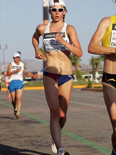 Zuzana Schindlerová na závodech v mexickém Chihuahua.