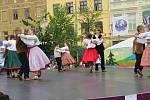 21. ročník Mezinárodního folklorního festivalu CIOFF/IOV ve Frýdku-Místku. Na snímku sobotní dění na místeckém náměstí Svobody.