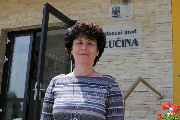 Starostka obce Lučina Dagmar Veselá.