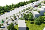 Vizualizace nové podoby okolí frýdlantského nádraží. Snímek: MěÚ Frýdlant n. O.