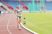 Natálie Závorková obhájila svůj mistrovský titul na trati 10000 metrů chůze juniorek.