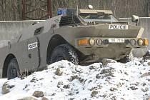 Policisté speciální pořádkové jednotky krajského ředitelství se ve středu 8. února v areálu bývalých kasáren Bahno ve Frýdku-Místku pochlubili novinkou – obrněným kolovým vozidlem OKV-P.