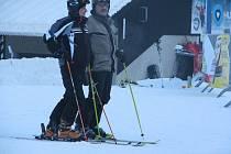 Ski areál Bílá nabízel během soboty skvělé podmínky pro lyžování.