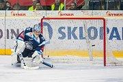 Utkání 45. kola Tipsport extraligy ledního hokeje se odehrálo 30. ledna v liberecké Home Credit areně. Utkaly se celky Bílí Tygři Liberec a HC Oceláři Třinec. Na snímku je brankář Roman Will.