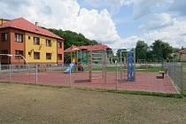 Dětské hřiště v ulici Míru ve Frýdku-Místku.