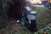 Následky nehody ve Frýdlantě nad Ostravicí.