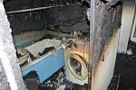 Snímky z místa požáru bytu ve Frýdku-Místku