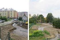 Stavba frýdeckého arboreta.